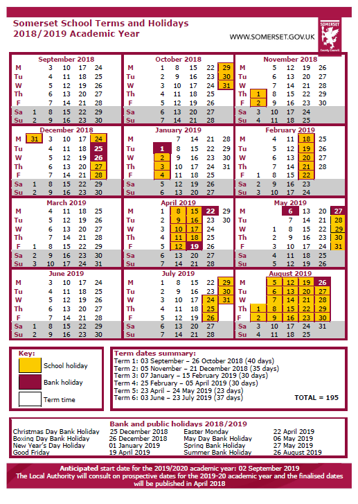Easter 2020 Calendar.Calendar Vallis First School